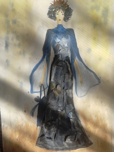 #fashionillustration #maxidress #bigsleeves