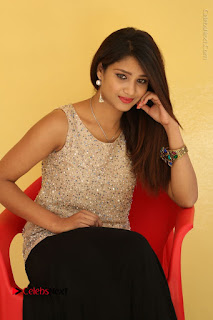 Tollywood Upcoming Actress Arthi Stills in Black Skirt at Plus 1 Movie Trailer Launch  0080.JPG