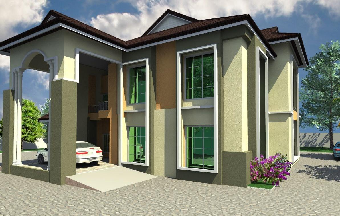 4 bedroom duplex residential homes and public designs for Duplex architectural designs