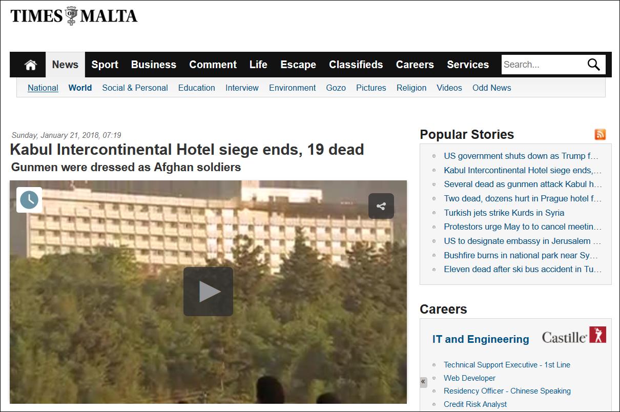 Https://www.timesofmalta.com/articles/view /20180121/world/kabul Intercontinental Hotel Siege Ends All Gunmen Killed Govt.668441?utm_sourceu003dtomu0026utm_campaignu003d  ...