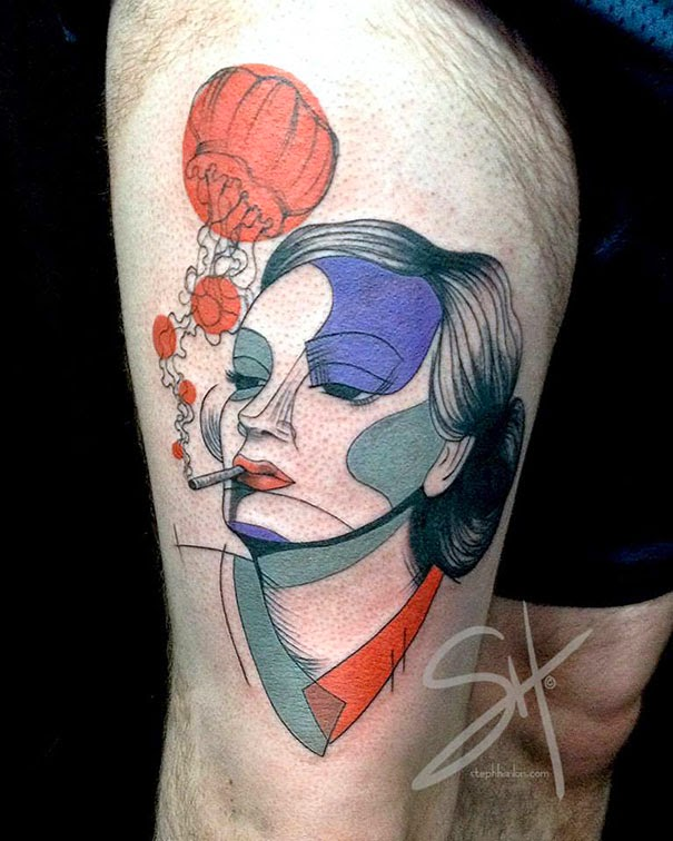 best tattoo design, Van Gogh, Mondrian, Munch, Picasso, Arts