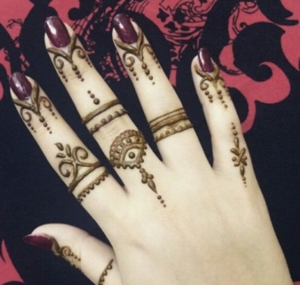 50 Best Ideas About Easy Beautiful Finger Mehndi Designs Top