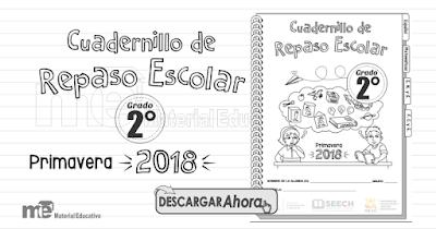 Cuadernillo de Repaso Escolar Segundo Grado Primavera 2018