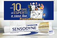 Logo Sensodyne ''Un esperto a casa tua'' : vinci 63 Carta Ora Manpower per 10 ore di servizi lavorativi