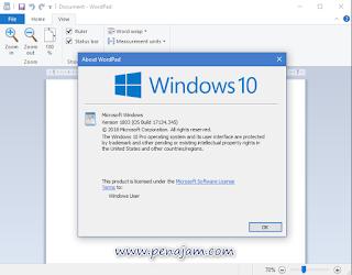 cara cepat membuka aplikasi wordpad di windows 10