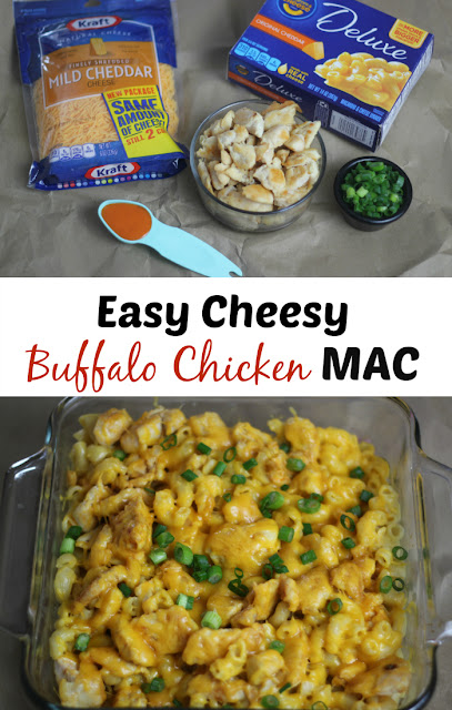 Whip up this Easy Cheesy Buffalo Chicken Mac Recipe in minutes!