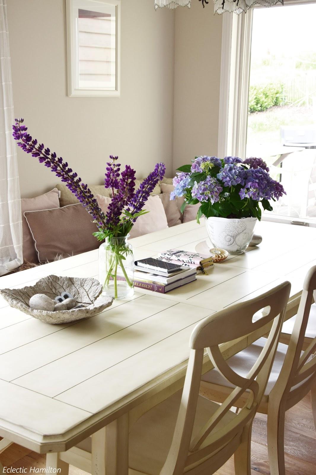 Tischdeko esszimmer  Mein Wochenende und Ideen zur Tischdeko mit Lupinen + Hortensien ...