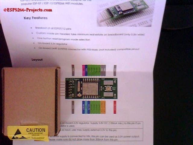 Mailbag Arrival !! New ESP8266 Adapter board