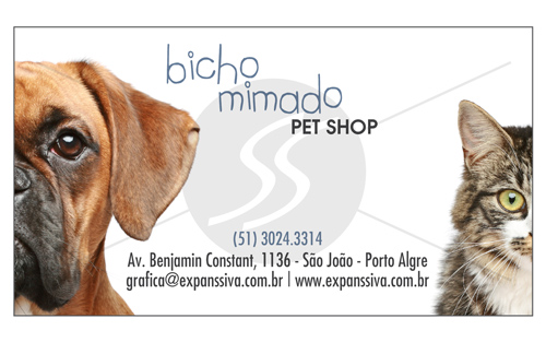 cartao de visita pet shop 7 - Cartões de Visita Pet Shop
