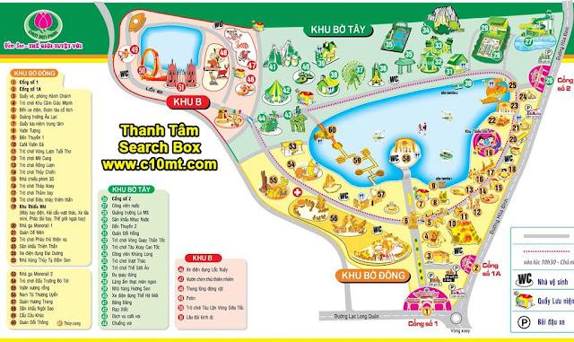 Bản đồ Công Viên Văn Hóa Đầm Sen - Vé Trọn Gói Đầm Sen Q11
