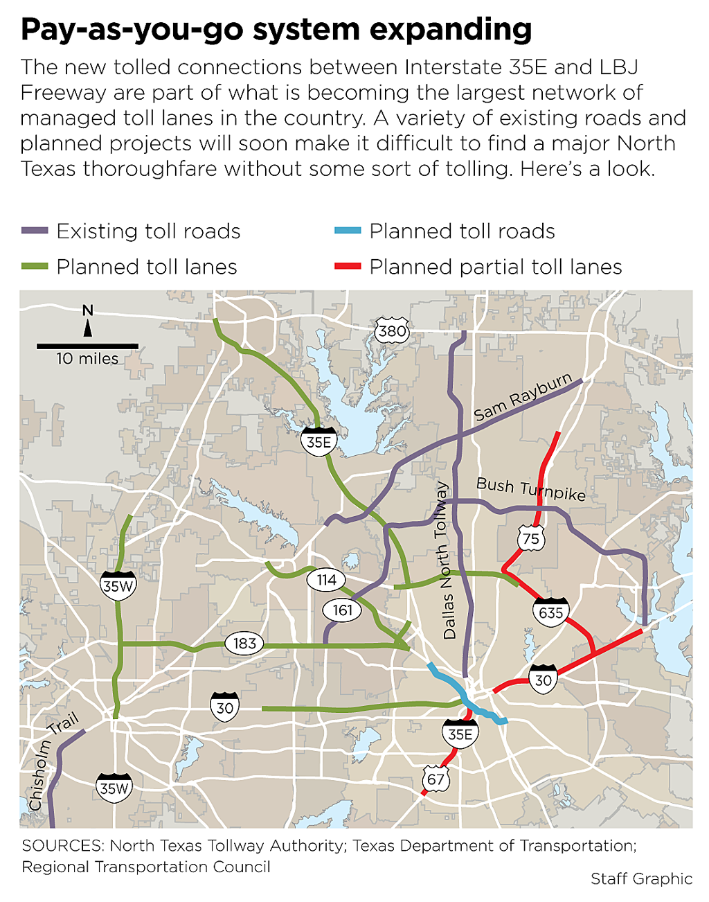 dallas toll roads map Road Pricing Will Dallas Have The World S Largest Hot Lane Network dallas toll roads map