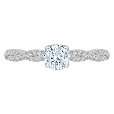 Split Shank Engagement Ring With Wedding Band