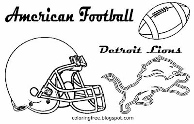 Detroit Lions printable North American team football coloring pages for boys basic clipart US sports