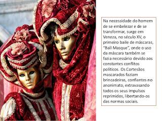 origem das mascaras carnavalescas