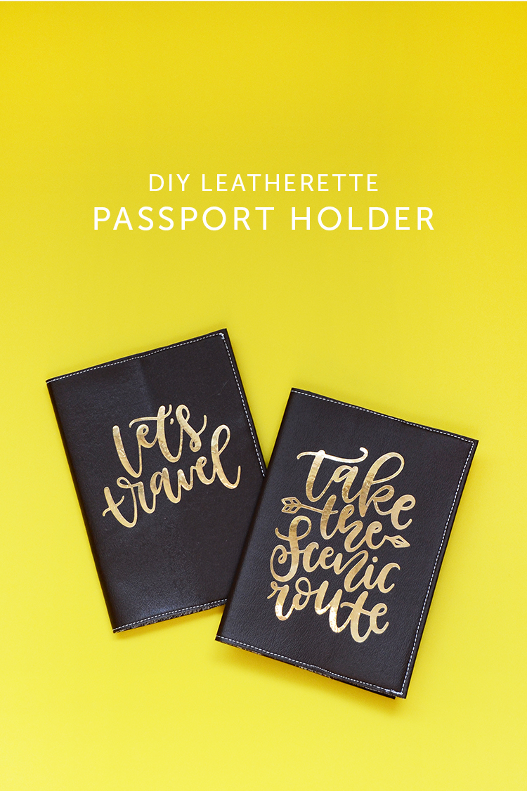 diy leatherette passport holder