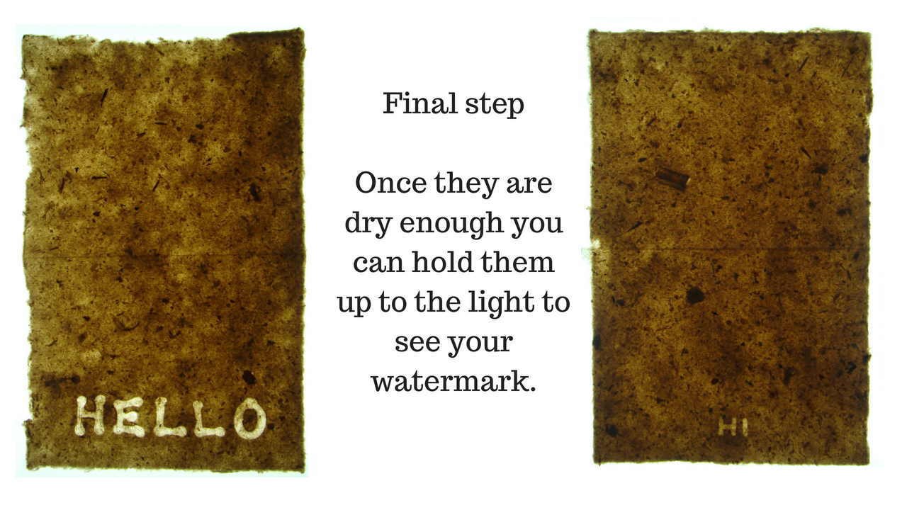 How to create watermarks in your handmade paper