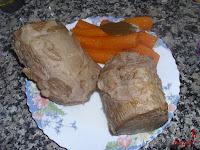 Carne y zanahoria para trocear