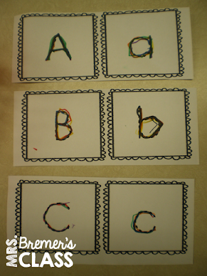 Rainbow writing activities to practice letters and sight words in Kindergarten