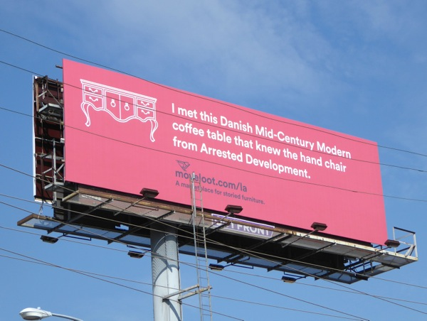 chair Arrested Development Move Loot billboard