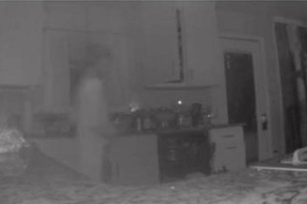 Mum spots 'dead son's ghost' on kitchen CCTV after figure triggers camera sensor, World, Dead, Son, Mother, CCTV, Message, News.