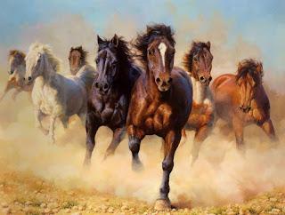 caballos-finos-pintados-oleo