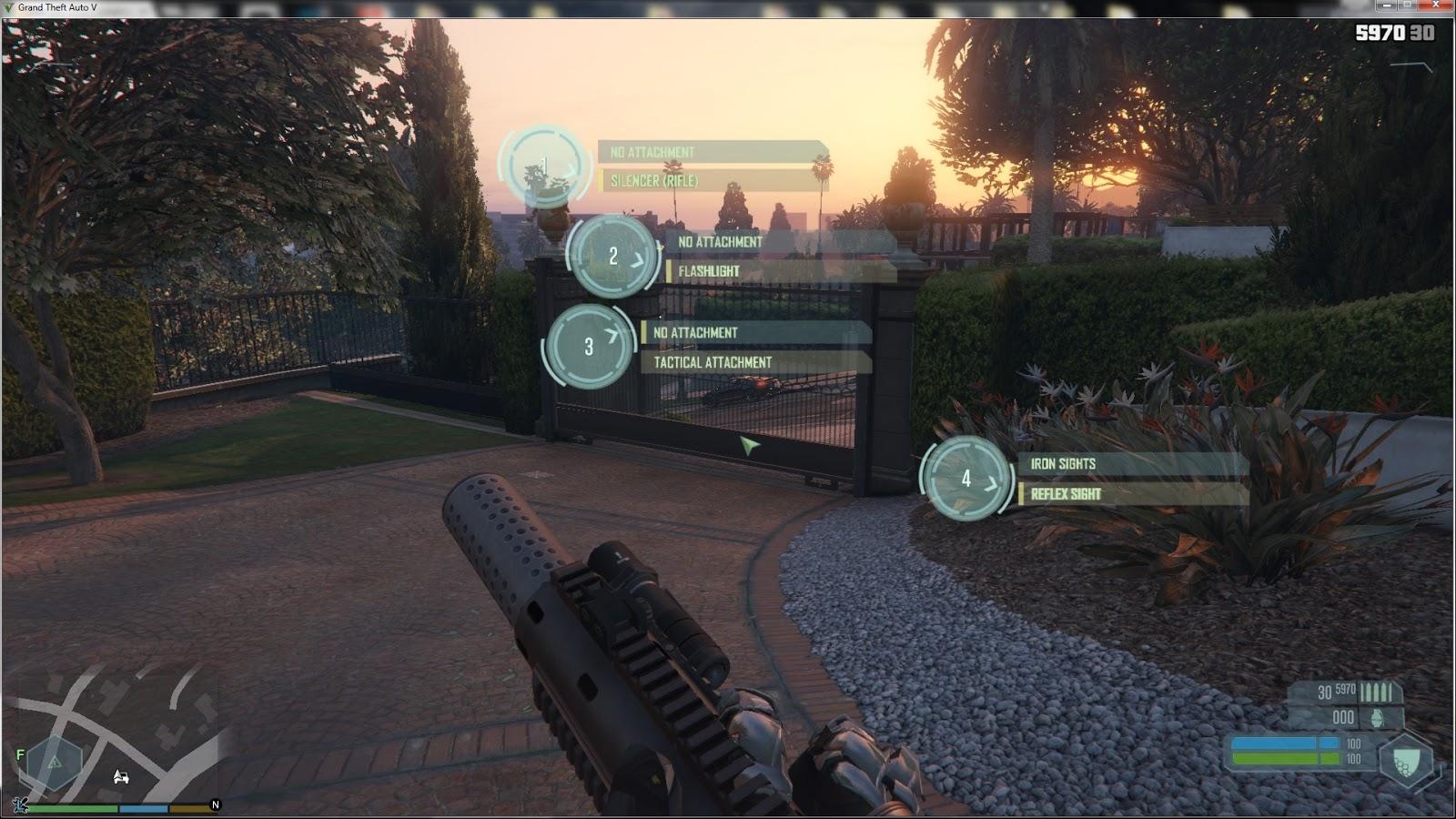 WIP] GTA V - Crysis script mod | GTA V