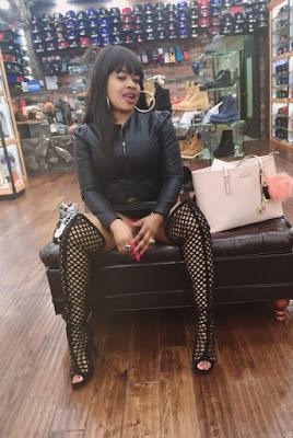 Ch3A64mVEAAeYLS Photos: P*rN actress, Afrocandy displays her underwear in a shoe shop