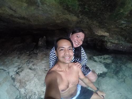 Taking a dip in Ogtong Cave in Bantayan Island