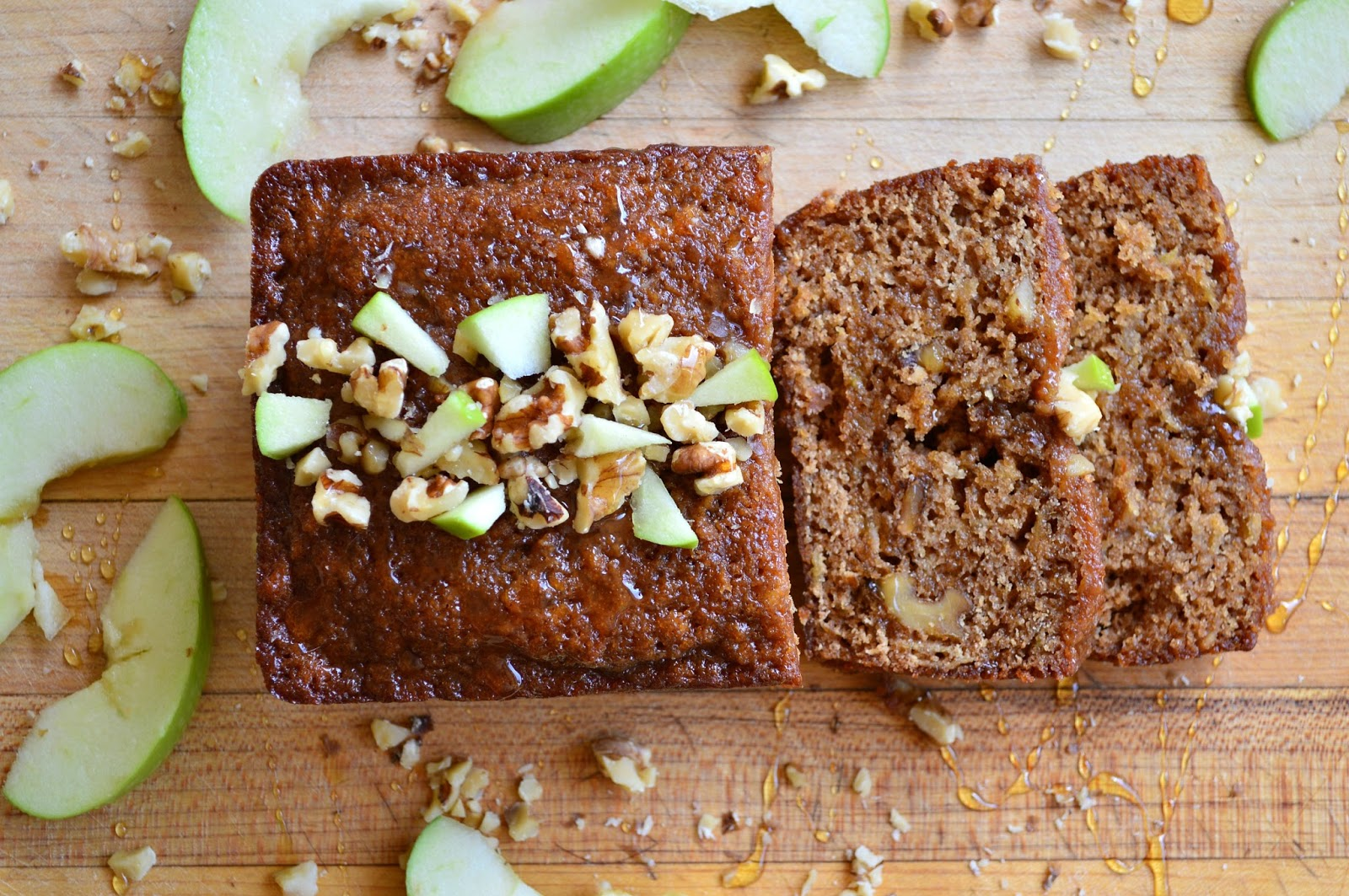Honey Cake with Apples and Toasted Walnuts