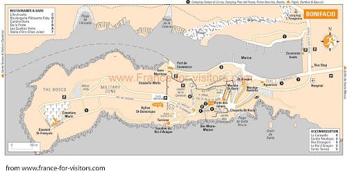 Mapa de Bonifácio – Córsega - França