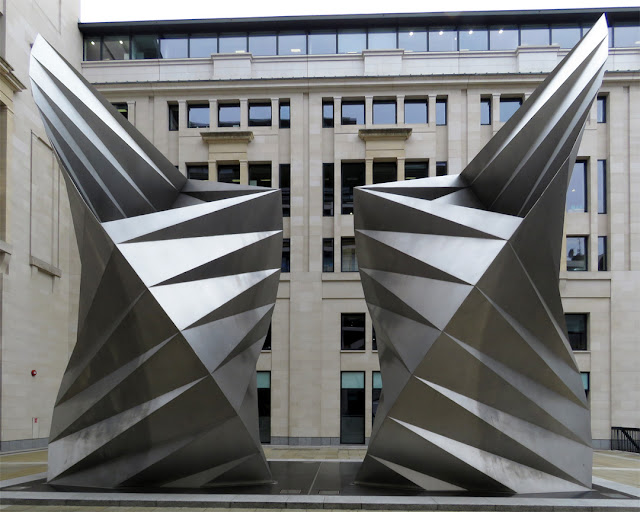 Paternoster Vents or Angel's Wings by Thomas Heatherwick, Paternoster Square, City of London, London