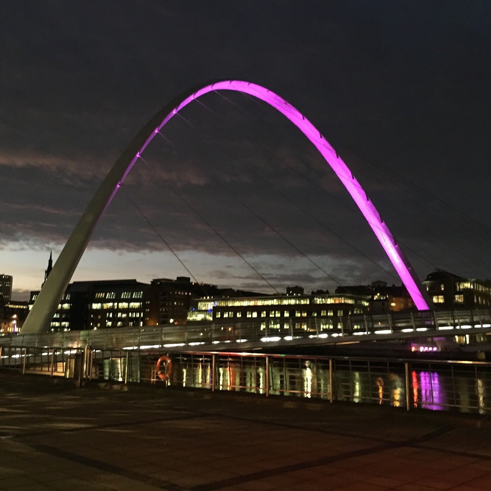 Weekend in Tynemouth, Newcastle Gateshead Milennium Bridge