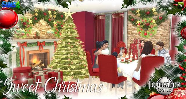 Decoración navideña para descargar desde la página Jomsims Creations
