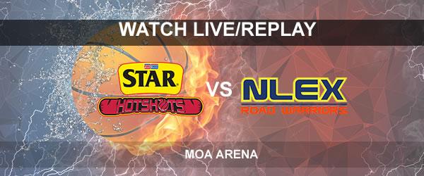 List of Replay Videos Star vs NLEX September 26, 2017 @ MOA Arena