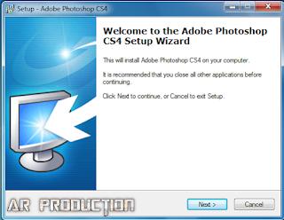Pemasangan Adobe Photoshop CS4 Lite tahap dua