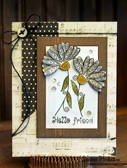 Gorgeous Flower card by Larissa Heskett | Beautiful Blossoms stamp set by Newton's Nook Designs