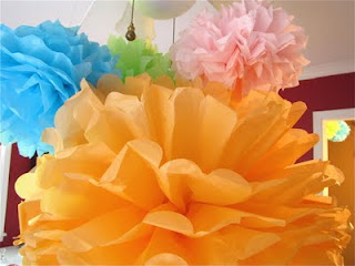 how to make tissue paper pom poms for party decorations