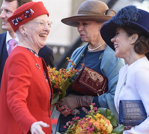 Queen Margrethe, Crown Prince Frederik, Crown Princess Mary, Prince Joachim, Princess Marie, Princess Benedikte, style dress wore dress, new myroyals, newmyroyals