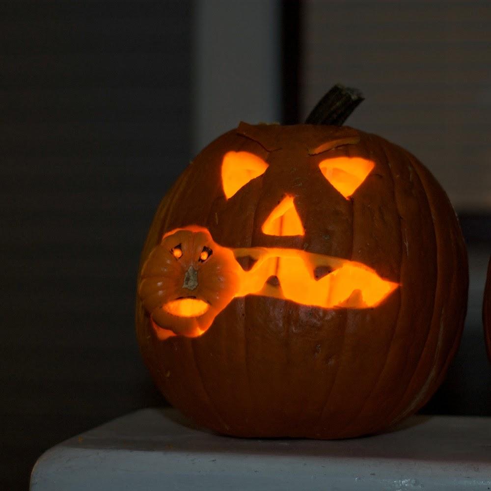 Pumpkin Eating Little Pumpkin