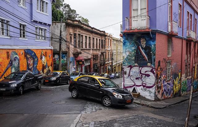 Gorjetas nos táxis de Valparaíso