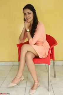 Rukshar Mir in a Peachy Deep Neck Short Dress 072.JPG