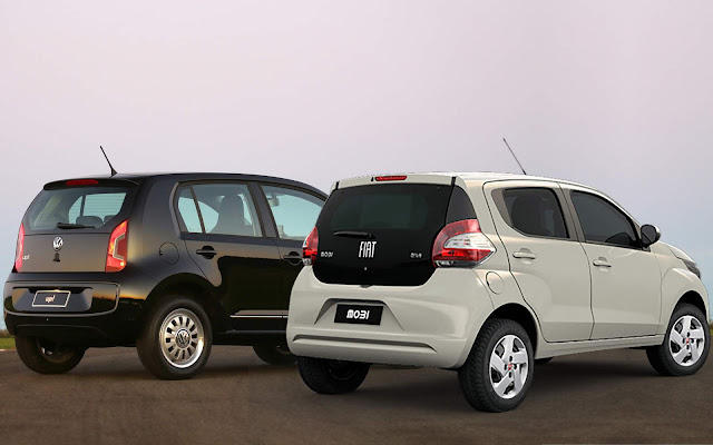Volkswagen Up! x Fiat Mobi Drive - comparativo