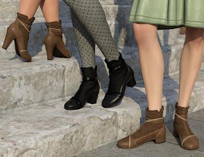 All Season Shoes for Genesis 8 Female