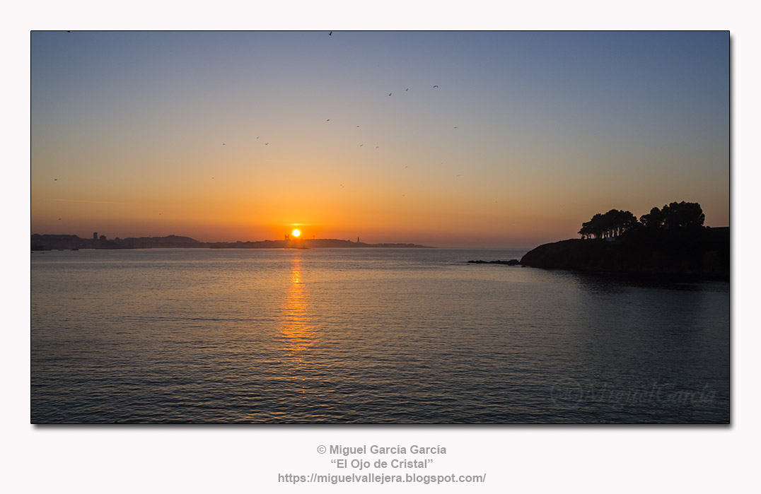 Atardecer en La Naval, Porto de Santa Cruz (Oleiros - A Coruña)