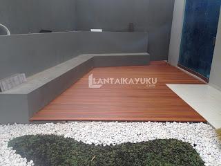 Lantai kayu Taman, Lantai kayu otdoor, Lantai Kayu Kolam, Decking Kayu Bengkirai