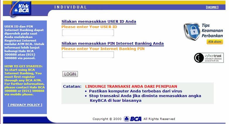 KLIK BCA INDIVIDUAL | Kemudahan Transaksi Perbankan