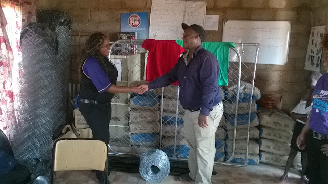 Handing over the fencing to Mamokwale Home Based Care - Hollywoodbets Marble Hall - Social Responisibility