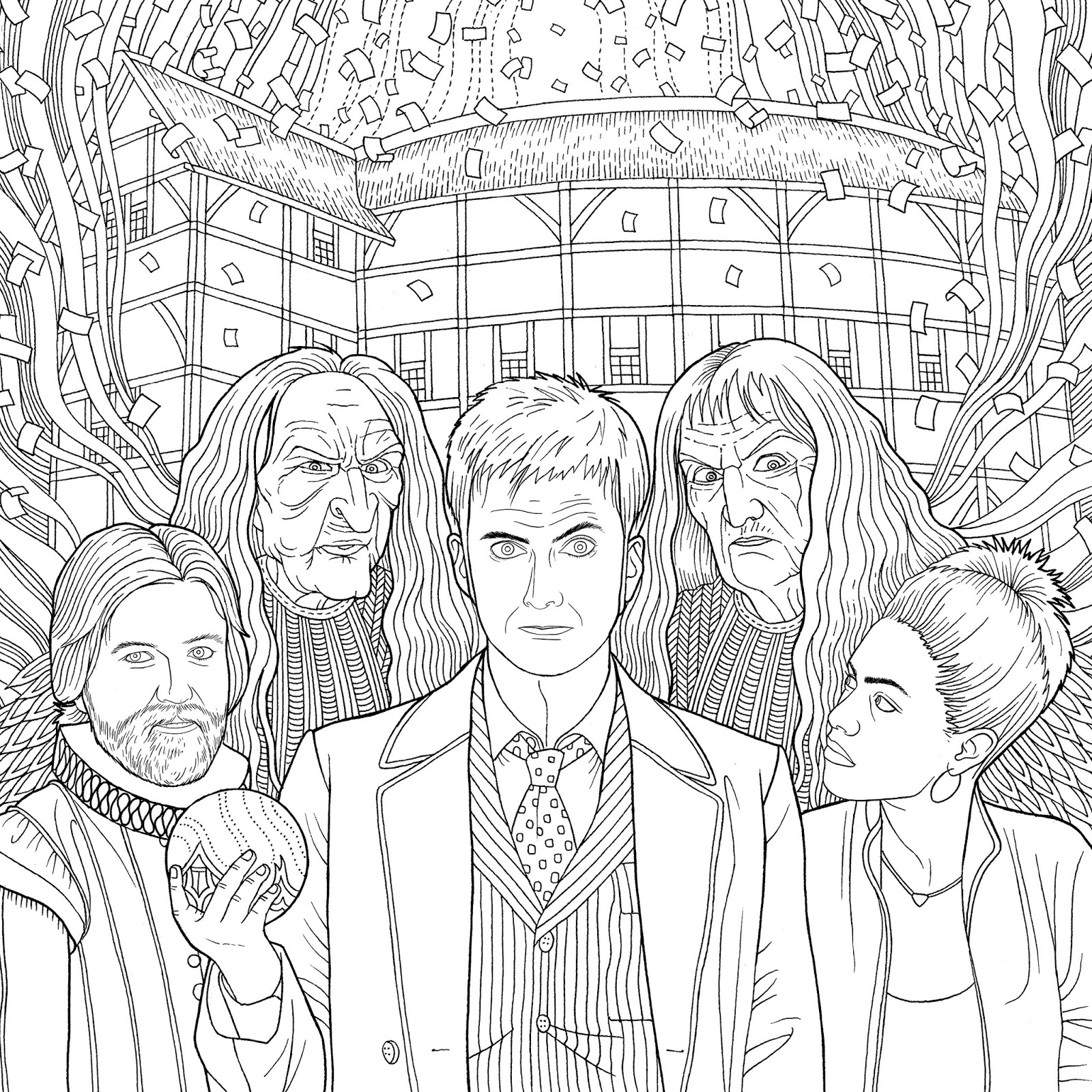New Doctor Who Travels In Time Colouring Book Released In The Us Chris Brown Para Colorir
