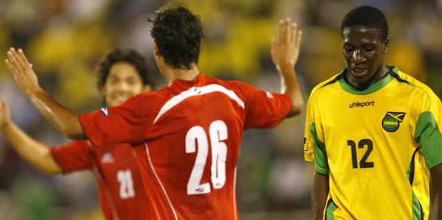 Jamaica y Chile en partido amistoso, 5 de junio de 2007