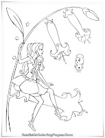 Barbie Fairytopia Realistic Coloring Pages For Girls